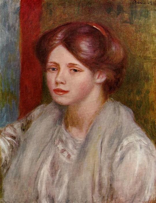 Portrait of a Young Woman - 1883 - 1887. Pierre-Auguste Renoir