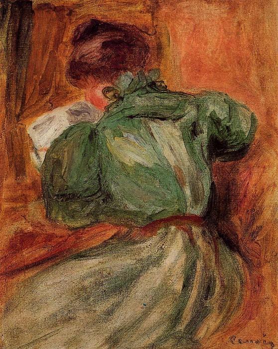 Reader in Green - 1894. Пьер Огюст Ренуар