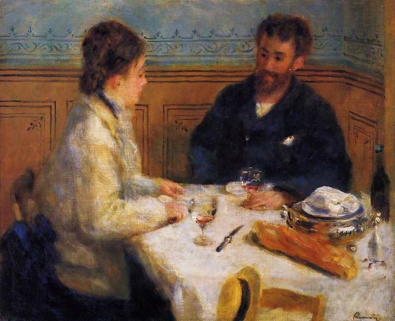 The Luncheon - 1879. Пьер Огюст Ренуар