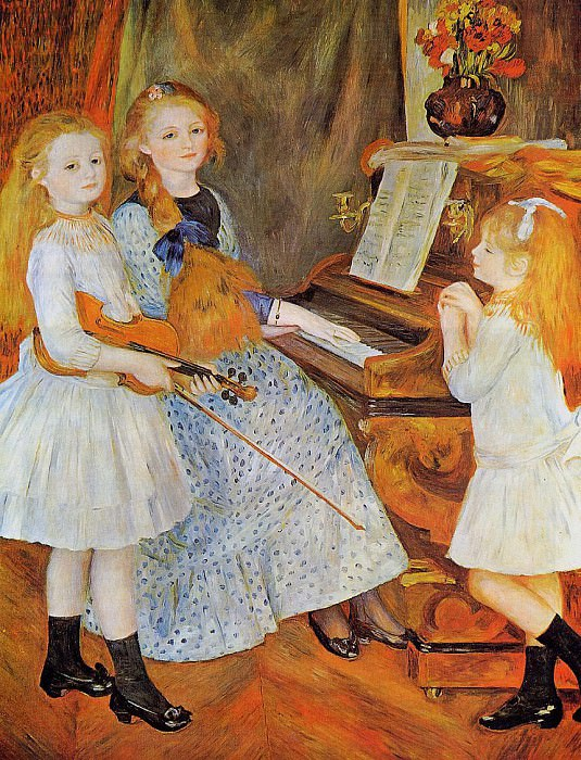 The Daughters of Catulle Mendes - 1888. Pierre-Auguste Renoir