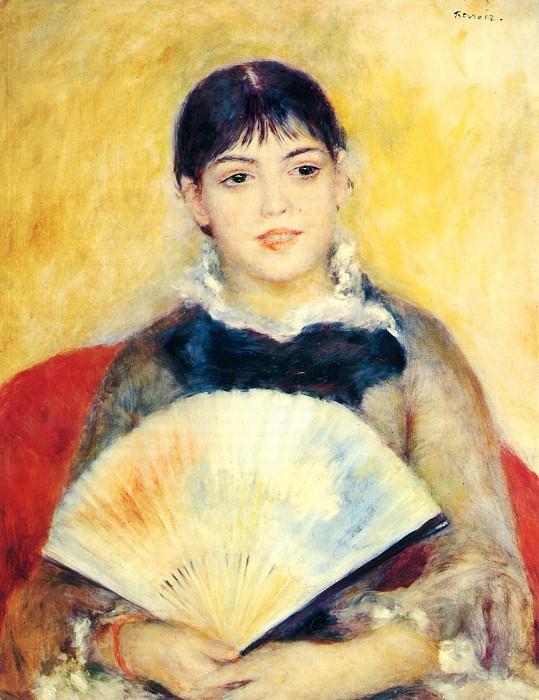Woman with a Fan - 1880. Pierre-Auguste Renoir