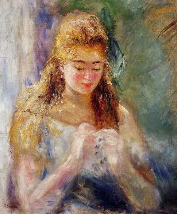 La Couseuse - ок 1874 -1876. Pierre-Auguste Renoir