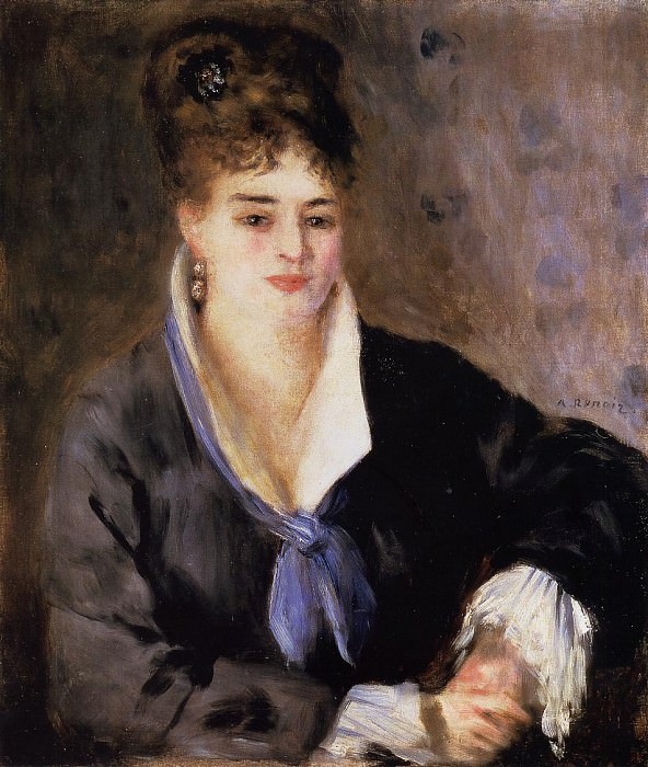 Lady in a Black Dress - 1876. Пьер Огюст Ренуар
