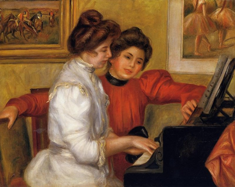 Young Girls at the Piano - 1892. Пьер Огюст Ренуар