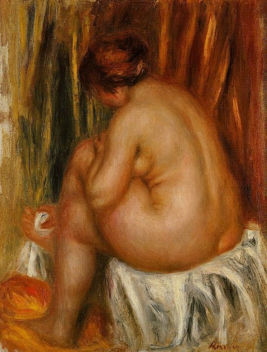 After Bathing (nude study) После купания (ню исследование) 1910. Pierre-Auguste Renoir