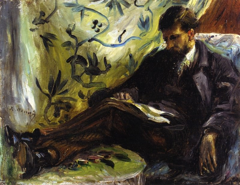 Portrait of Edmond Maitre (also known as The Reader) - 1871. Pierre-Auguste Renoir