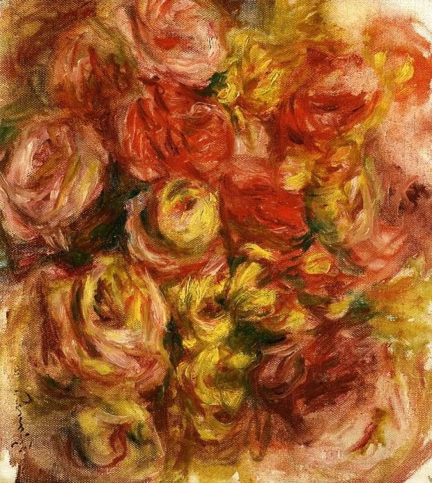 Study of Flowers - 1914. Pierre-Auguste Renoir