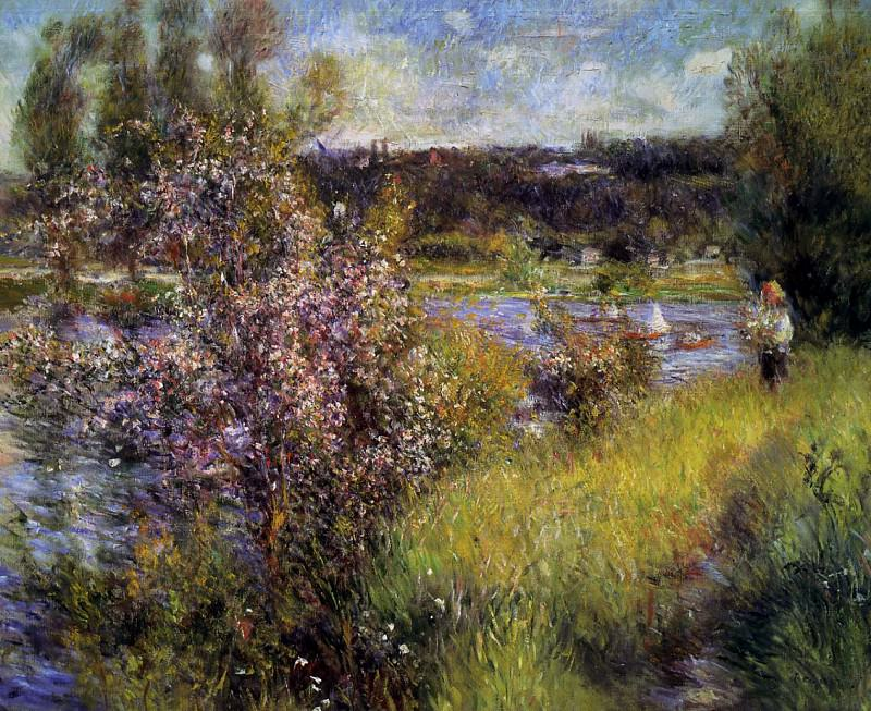 The Seine at Chatou - 1881. Pierre-Auguste Renoir