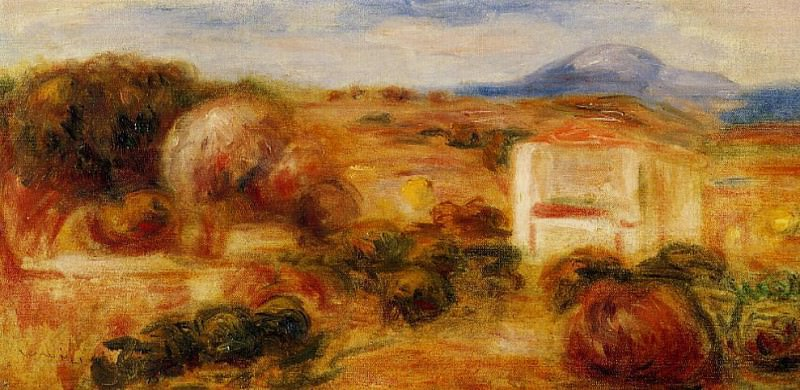 Landscape with White House. Pierre-Auguste Renoir