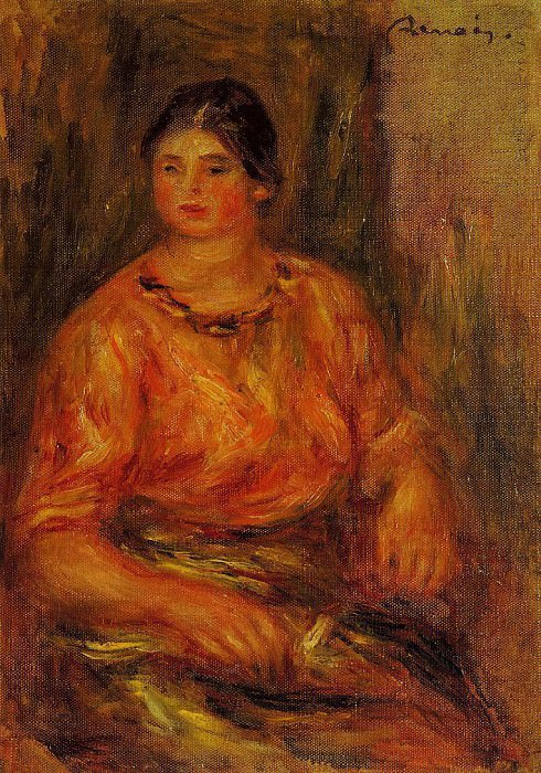 Woman in a Red Blouse - 1914. Pierre-Auguste Renoir