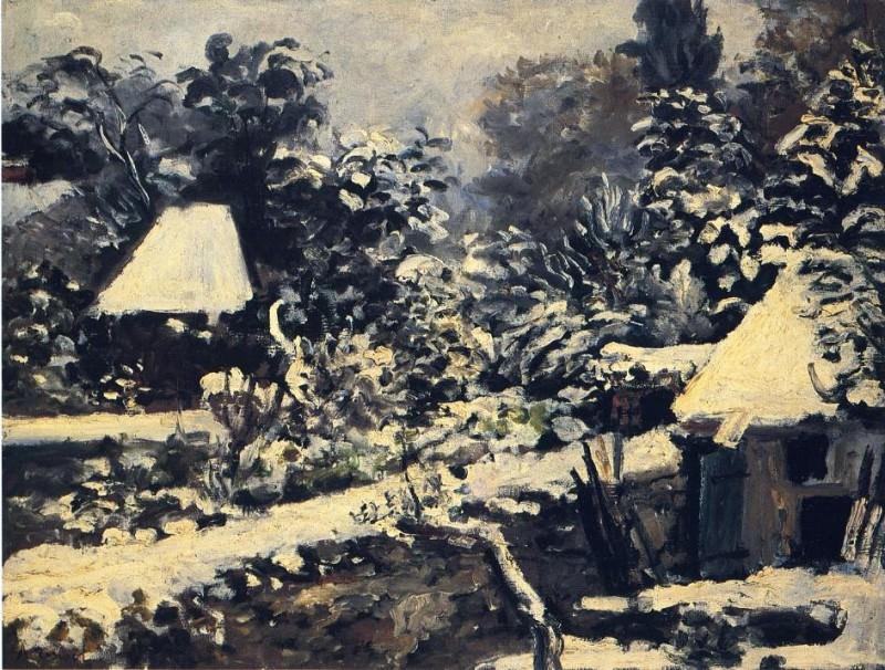 Landscape, Snow Effect - 1858. Пьер Огюст Ренуар