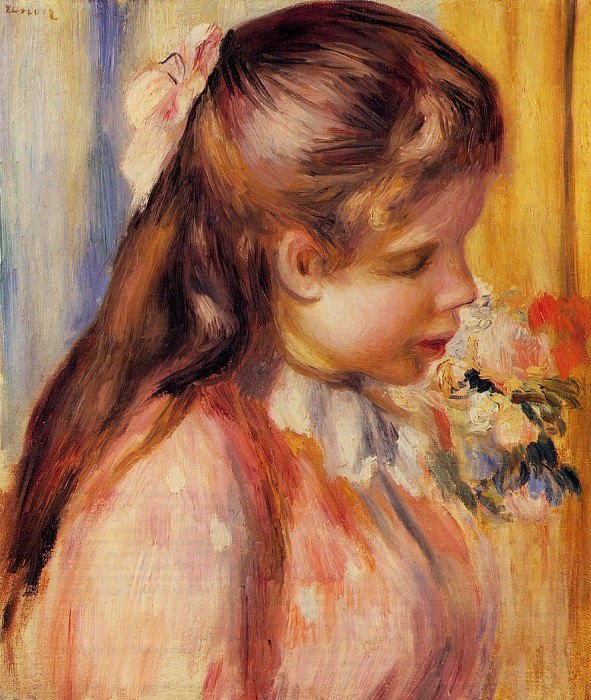 Bust of a Young Girl - 1895. Pierre-Auguste Renoir