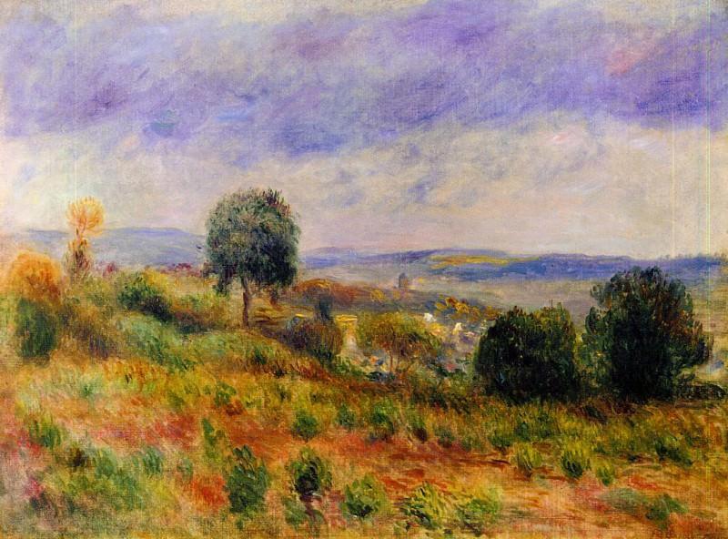 Landscape - Auvers-sur-Oise - ок 1901. Пьер Огюст Ренуар