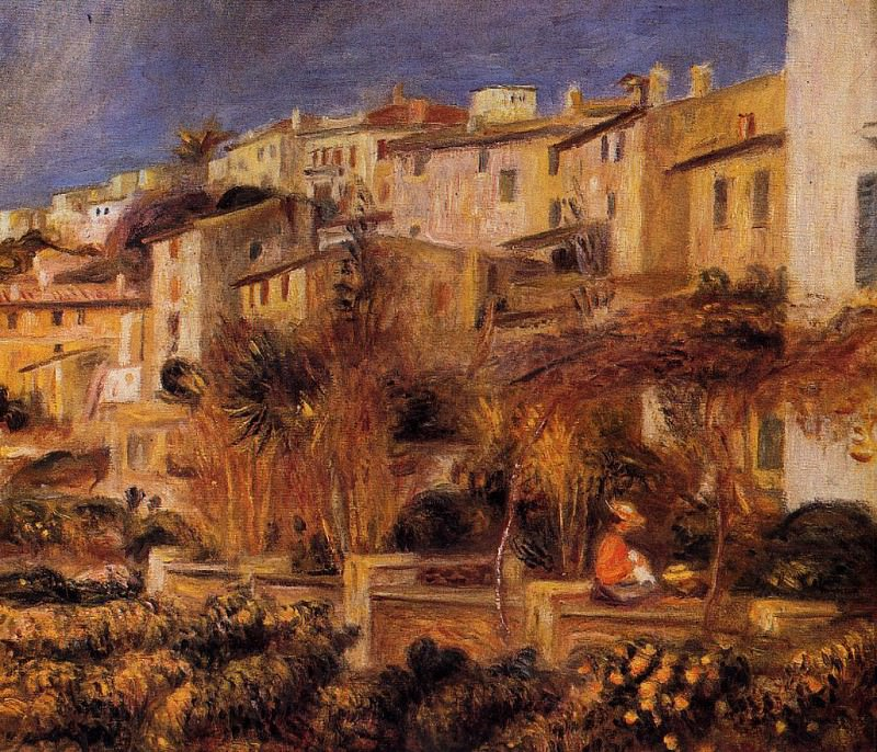Terraces at Cagnes - 1905. Pierre-Auguste Renoir