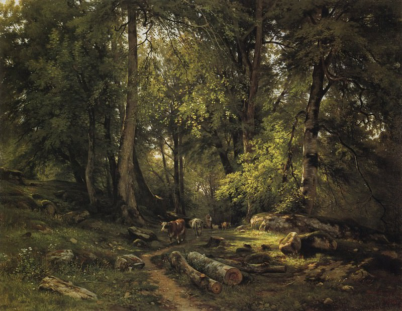 herd in the woods 1864 105H140. Ivan Ivanovich Shishkin