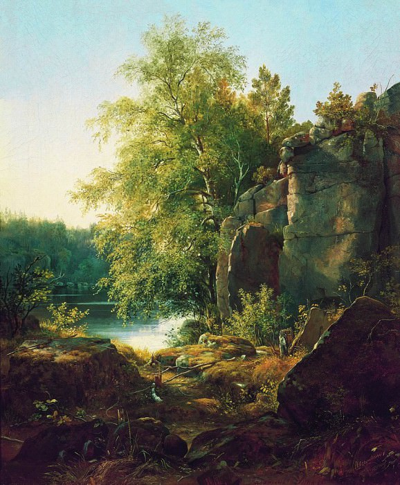 View on the island Valaame1858 66, 5h56. Ivan Ivanovich Shishkin