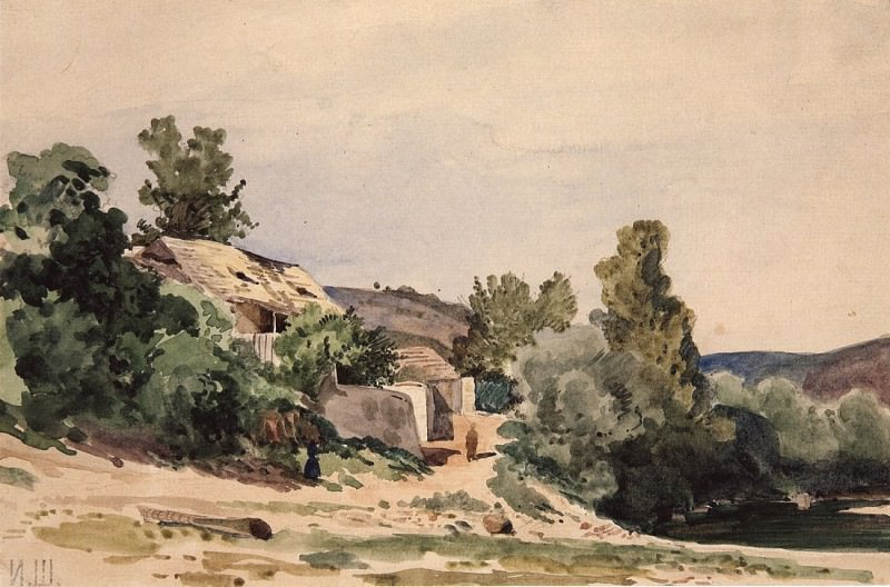 Landscape. Troy near Prague. 1862 15, 5h23, 4. Ivan Ivanovich Shishkin