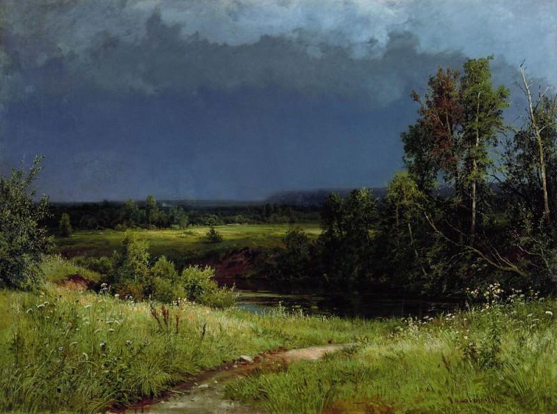 Before the storm 1884 110х150. Ivan Ivanovich Shishkin