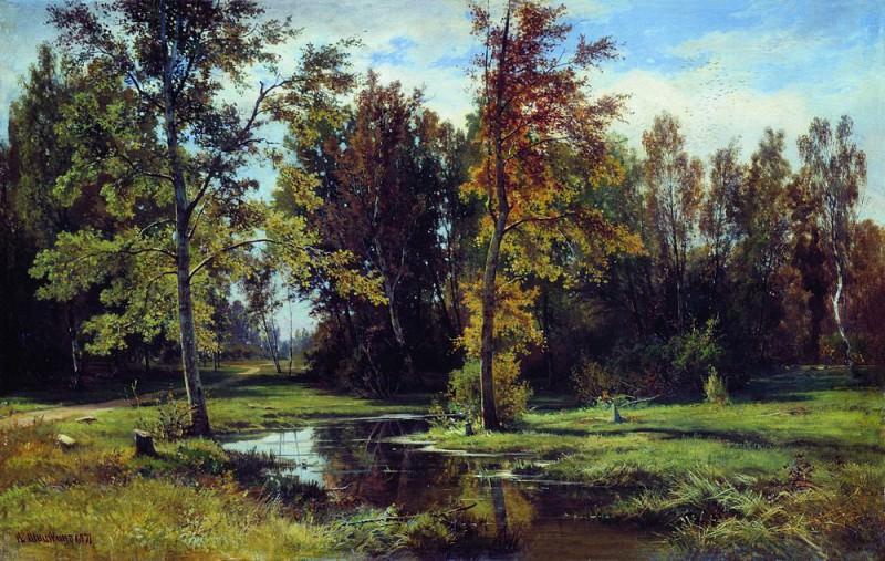 Берёзовый лес 1871 70х110. Иван Иванович Шишкин