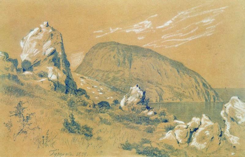Gurzuf 1879 Paper. white, pencil 29h45. 5. Ivan Ivanovich Shishkin
