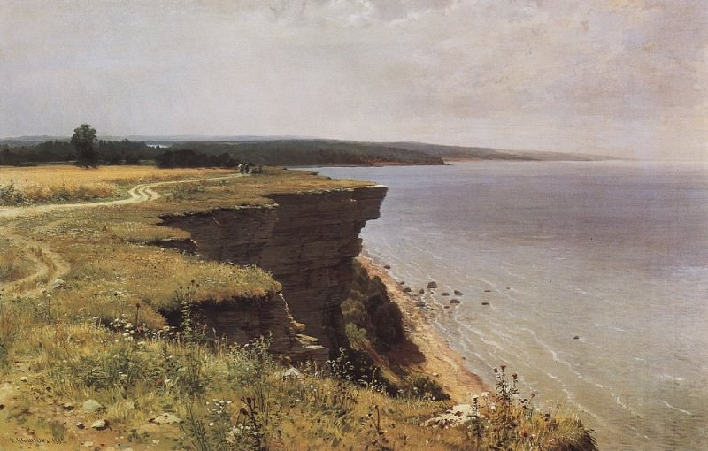 Along the shores of the Gulf of Finland (Udrias near Narva) 1889 91. 5h145 5. Ivan Ivanovich Shishkin