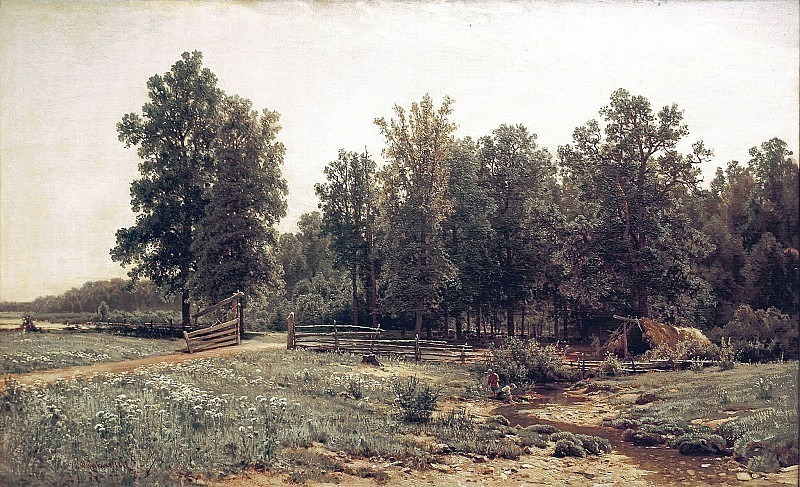 On the outskirts of an oak forest. Ivan Ivanovich Shishkin