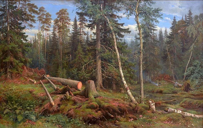 Felling. Ivan Ivanovich Shishkin