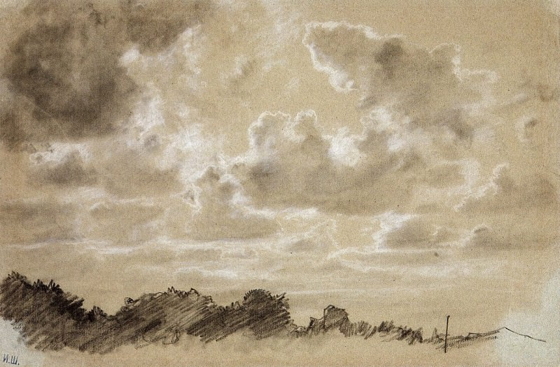 Clouds. 1880, 31, 5h46, 8. Ivan Ivanovich Shishkin
