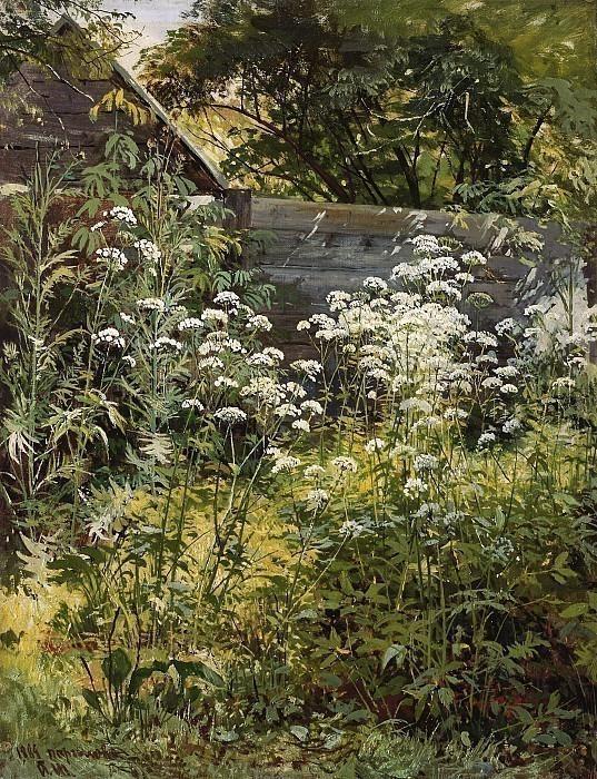 Уголок заросшего сада. Сныть-трава. Иван Иванович Шишкин