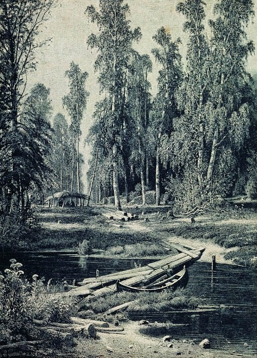 Forest River. 1893 50x40. Ivan Ivanovich Shishkin