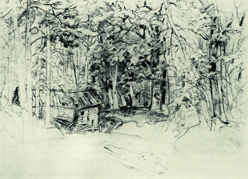 Sketch for the painting in 1898 1898 39, 6h51, 7. Ivan Ivanovich Shishkin