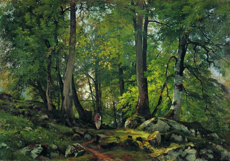 Beech forest in Switzerland, 1863-1864 85. 5h124. Ivan Ivanovich Shishkin