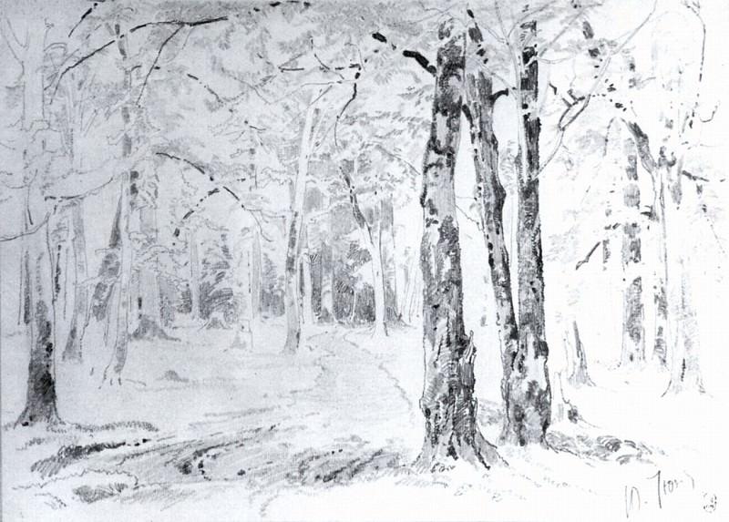Road in the woods. End 1870 - beginning of 1880 23h35. Ivan Ivanovich Shishkin