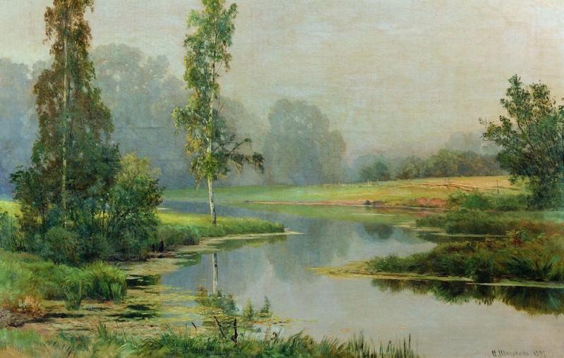1897 Misty Morning 82 5h110. Ivan Ivanovich Shishkin