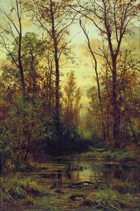 Forest plant. Autumn 103h67, 4. Ivan Ivanovich Shishkin