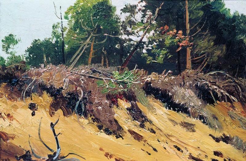 Landscape. Termination. Etude 19. 8h28. 9. Ivan Ivanovich Shishkin
