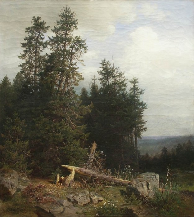 On the edge of the forest. Ivan Ivanovich Shishkin