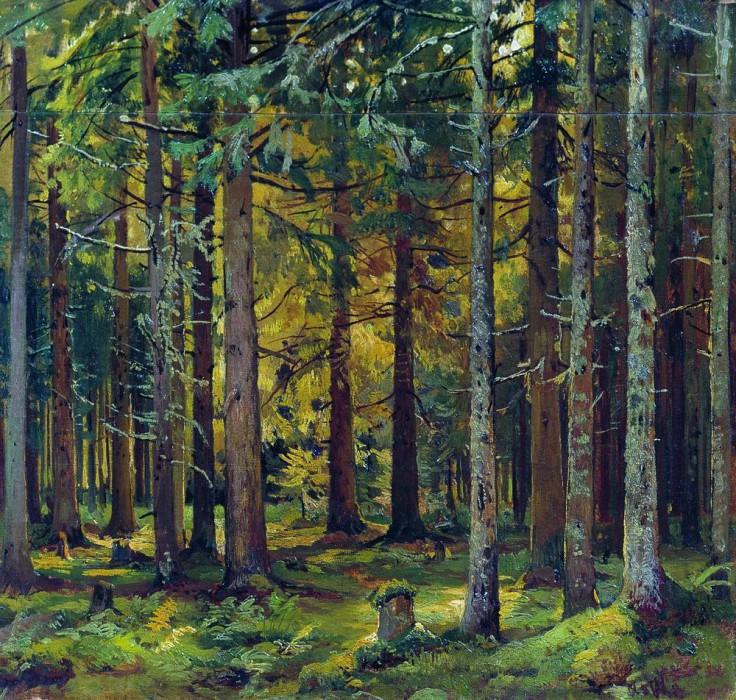 spruce forest 46h42, 5. Ivan Ivanovich Shishkin
