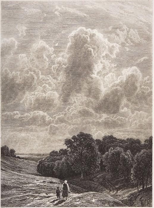 Облака над рощей. Иван Иванович Шишкин