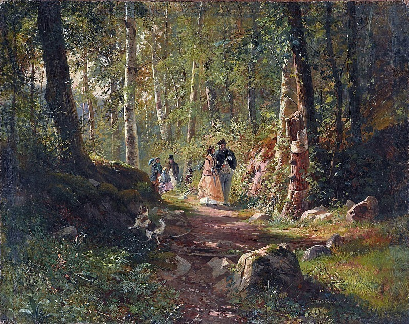 Walk in the woods in 1869 34. 3h43. 3. Ivan Ivanovich Shishkin