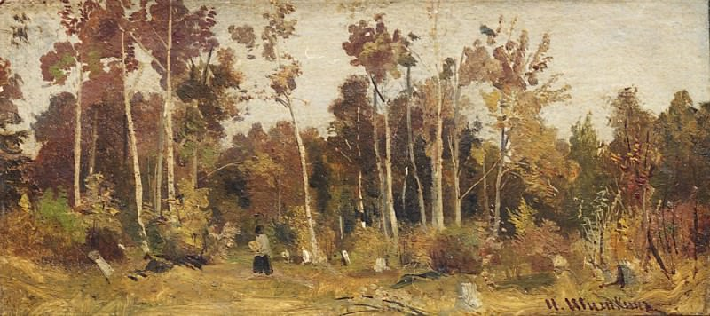 Landscape. Edge of the Forest. Etude. Ivan Ivanovich Shishkin
