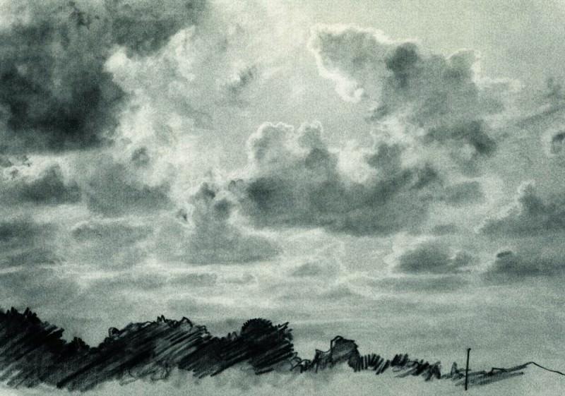 Clouds 1880 31. 6h46. 8. Ivan Ivanovich Shishkin