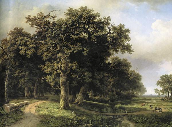 Landscape with ruchem1863. Ivan Ivanovich Shishkin