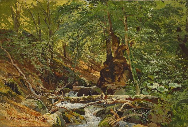 1879 Forest Landscape. Ivan Ivanovich Shishkin