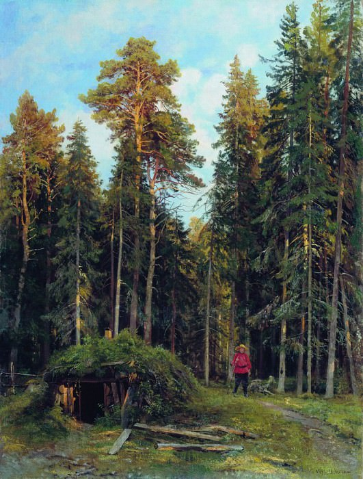 Evening 1892 110h84. Ivan Ivanovich Shishkin