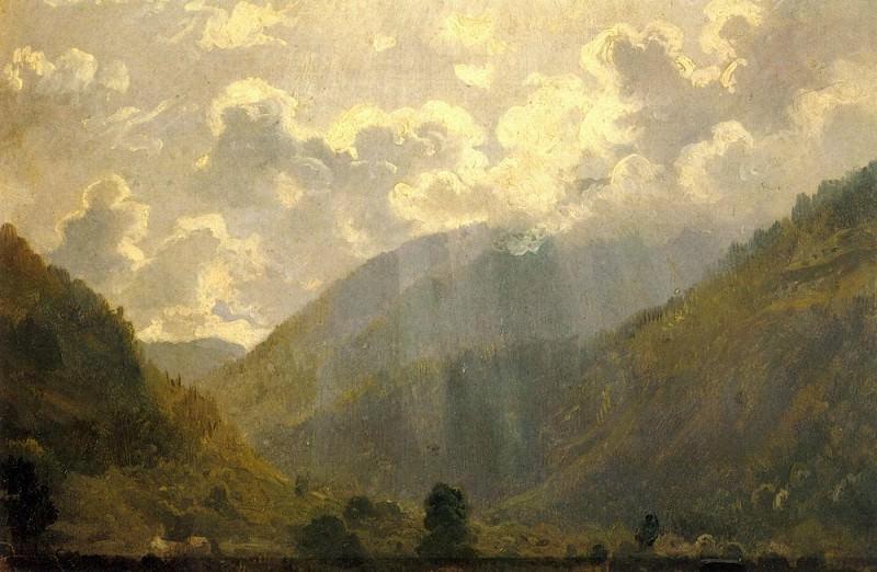 Latest rays. Between 1863 and 1865. Etude 23h34. Ivan Ivanovich Shishkin
