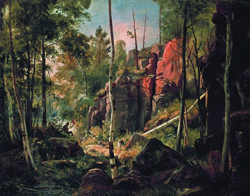 View on the island of Valaam. Location Kukko1858-60 69h87. Ivan Ivanovich Shishkin