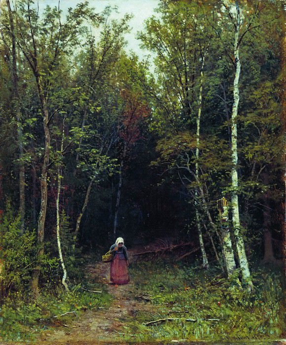 Пейзаж с фигурой 1872 59х48. Иван Иванович Шишкин