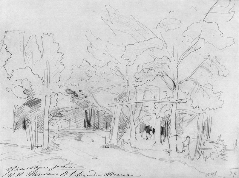 Forest road. 1880, 23, 3h31. Ivan Ivanovich Shishkin