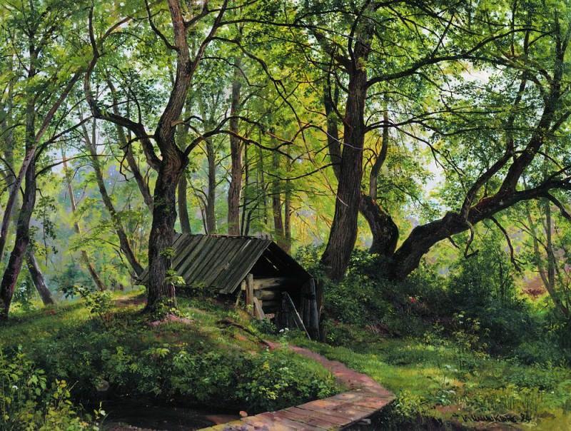 Old lime 83h109 1894. Ivan Ivanovich Shishkin